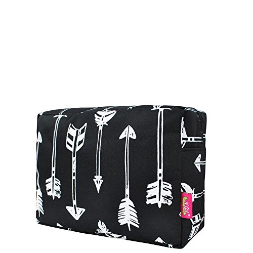 N. Gil Large Travel Cosmetic Pouch Bag (Arrow Black)