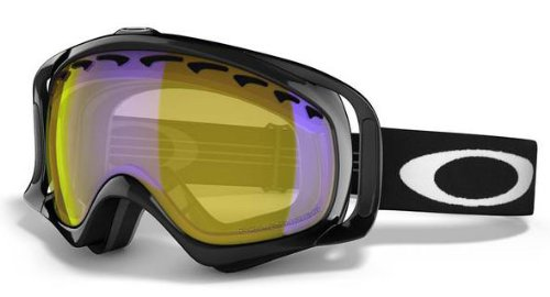 Oakley Unisex-Adult Crowbar Goggles (Jet Black,H.I. Amber Polarized), Outdoor Stuffs