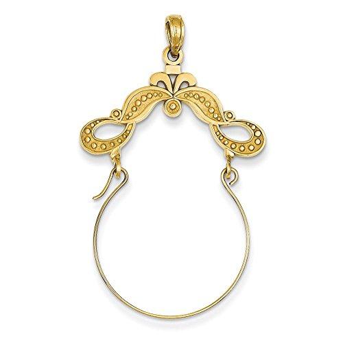 Ruban poli 14 carats-Décoré-JewelryWeb