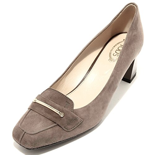 Donna Tod's LINGOTTO Women 94217 Tortora Shoes T55 SU Gomma Decollete Scarpa qp0wfqOW