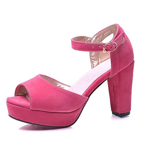 M B Peach Frosted Heels 4 Hollow 5 Ladies 1TO9 Sandals High US Out x6APnfv