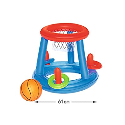 BESPORTBLE Inflatable Pool Toy Water Exercise Sports Ball Toy Summer Floating Volleyball Basketball Competitive Game for Kids Adults (Basketball): Toys & Games