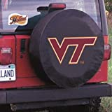 Holland Bar Stool TCJVATechBK-27 x 8 Virginia Tech Tire Cover-Black