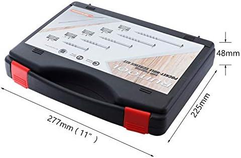 NA 552pcs / box炭素鋼ネジポケット穴治具用細目セルフタッピングネジSQ2ドライバー