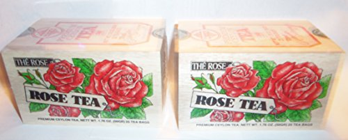 Rose Flavored Tea - Rose Tea 25 Tea Bags Pack of 2 Flavored Black