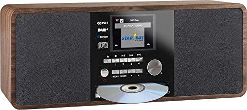 Imperial Dabman i200 Internet/DAB+ radio met CD-speler (Stereo geluid, FM, WLAN, AUX In, Line-Out, hoofdtelefoon uitgang…