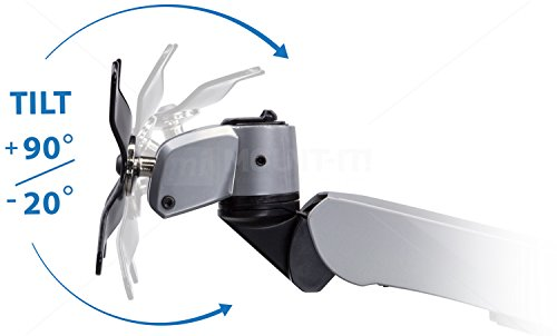 Mount-It! Expandable Two Monitor Computer Desk Mount Spring Arm Quick Release (MI-45116)