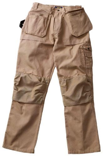 Blaklader Workwear Bantam Pant with Utility Pockets, 42-Inch Waist, 32-Inch Length, 8-Ounce Cotton - Khaki by Blaklader Workwear