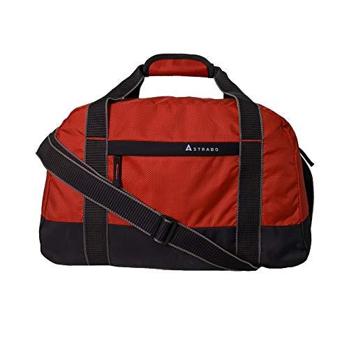 STRABO Solo Nylon Travel Duffel Bag, Orange