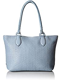 Bethany Woven Leather Zip Tote