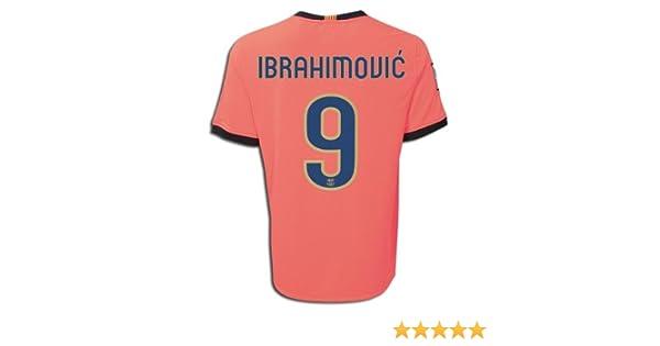 super popular d8f6b 81ea1 Amazon.com : Nike FC Barcelona 09/10 IBRAHIMOVIC #9 Away ...