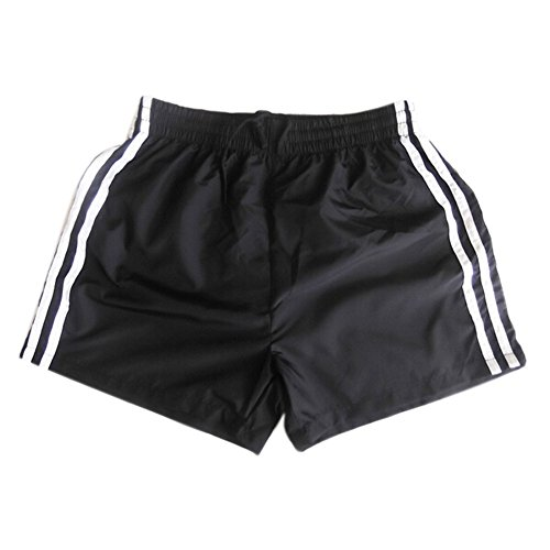 GQMART Male Sports Shorts Men'S Bermuda Masculina Swimwear Men Praia Beach Surf Shorts Men Workout Running Basketball Shorts-Black,L