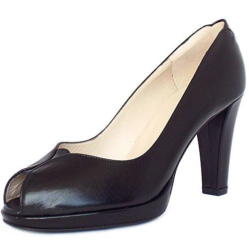 Peep Toe Corte Zapatos Peter Kaiser Emilia Mujeres En Negro Black