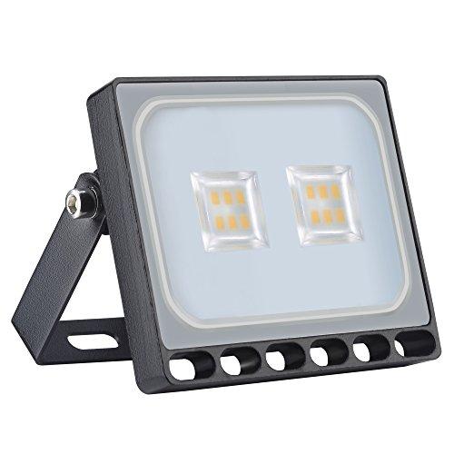 Heilsa 10W LED Flood Light, Warm White 2800-3000K, 1100Lm Super Bright Security Light IP67 Waterproof Outdoor Landscape Flood Light Lamp LED Spotlight for Garden Yard, Party, Playground For Sale