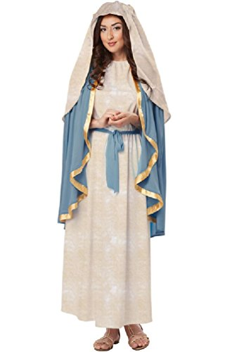 [8eighteen Biblical Virgin Mary Religious Adult Costume] (Girls Virgin Mary Costume)