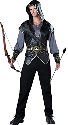 (InCharacter Costumes Men's Hooded Huntsman Costume, Grey/Black,)