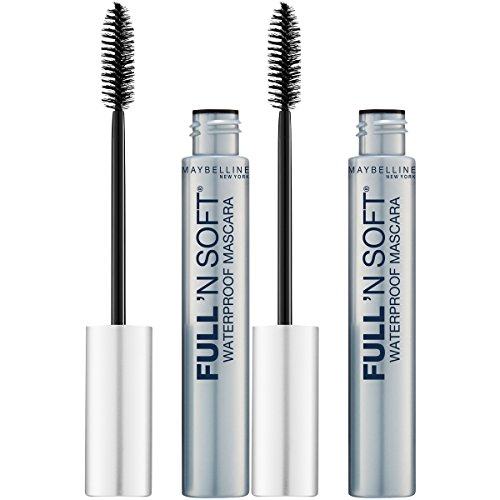 Maybelline New York Full 'n Soft Waterproof Mascara Makeup, Very Black, 2 Count by Maybelline New York