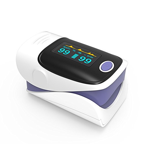 Yonker YK-80 Fingertip Pulse Oximeter Blood Oxygen Saturation and Pulse Rate Monitor - Purple by Yonker