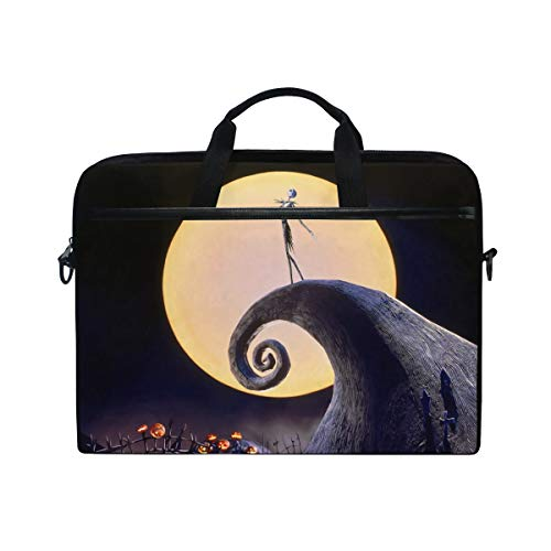 The Nightmare Before Christmas Laptop Bag Travel Briefcase with Organizer Water Resisatant with Adjustable Shoulder Strap for Men and Women Fits 14 Inch to 15.6 Inch Laptop,Computer,Tablet -