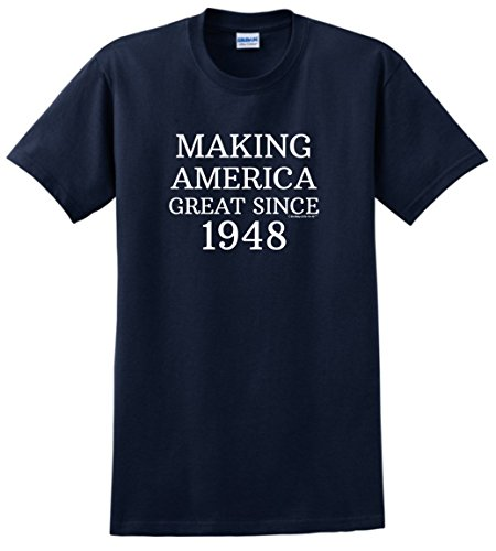 Birthday Gifts For All 70th Birthday Decorations 70th Making America Great Since 1948 T-Shirt XL Navy