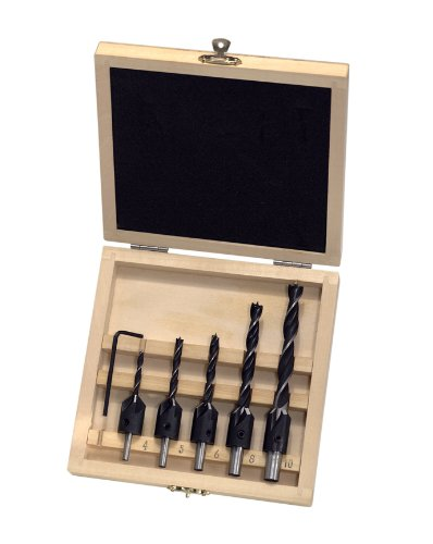 ENT 26514 Set di frese a svasare WS - 5 punte cilindriche a spirale + utensile. ENT European Norm Tools