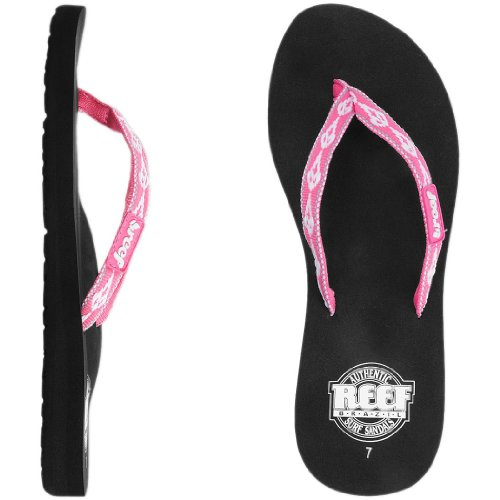 - Reef Women's Ginger 30 Years Flip Flop,Hot Pink/White,5 M US