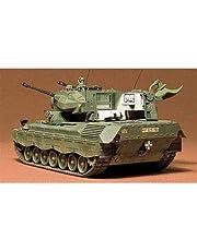 Tamiya 35099 1:35 BW Flak-Tank Gepard (1), modelbouwset, plastic bouwpakket, bouwpakket voor montage, gedetailleerde replica