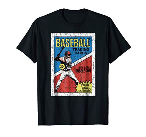 - Retro Baseball Card Wrapper T-Shirt (Distressed)