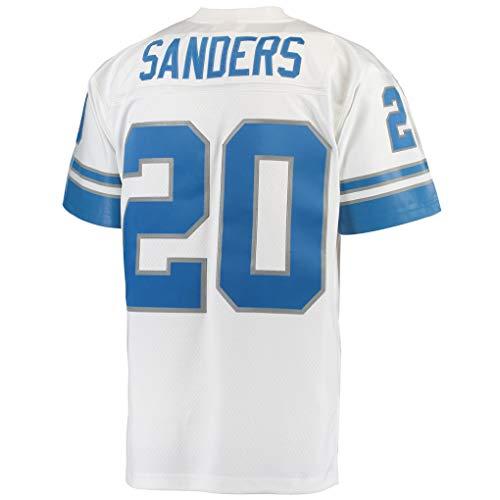 - Barry_Sanders_White #20 Fans Jersey Sportswears Football Game Jerseys
