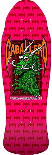 "Powell Peralta Skateboard Deck Caballero Street Dragon Hot Pink 9.625"" x 2"
