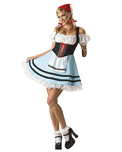 Oktoberfest German Beer Girl Sexy Mini Dress Drinking Costume Sizes: Large