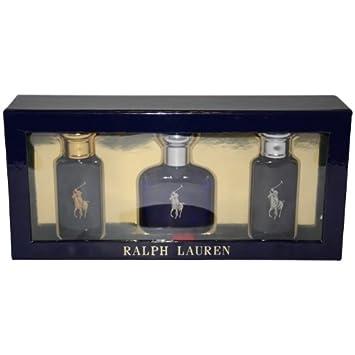 1132f3a00995 Amazon.com   Ralph Lauren Polo Variety 3 Piece Gift Set For Men (Polo Black  EDT Spray