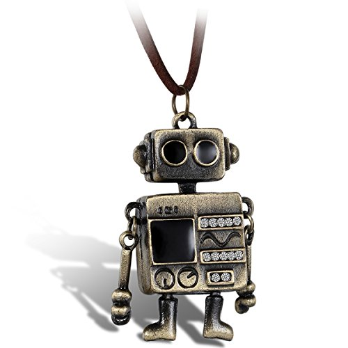 Flongo Vintage WALL E Pendant Necklace