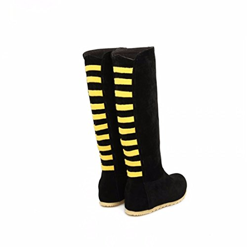 flat color winter high RFF Yellow boots boots spell Women's Shoes with size Ms qWYYnwXzt
