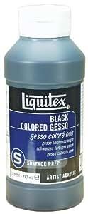 Liquitex Professional Black Gesso Surface Prep Medium Bottle, 8-Ounce