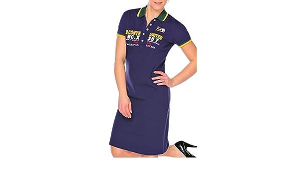 M.Conte Vestido Polo-Dress Manga Cortos para Mujer Mecia: Amazon ...