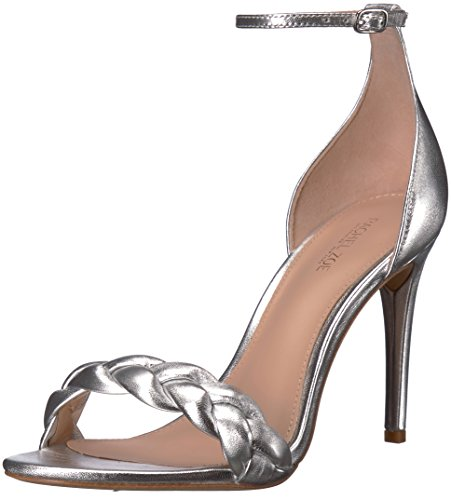 Used, Rachel Zoe Women's Ashton Sandal Braid Heeled, Silver, for sale  Delivered anywhere in USA