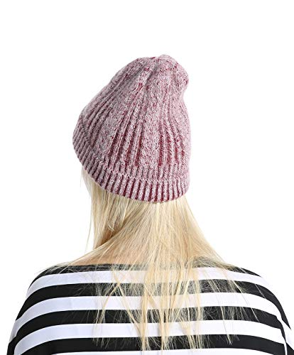 51a989b8794 Women Men Winter Beanie Hat – Cashmere Wool Acrylic Cable Thick Knit  Knitted Warm Watch Stocking