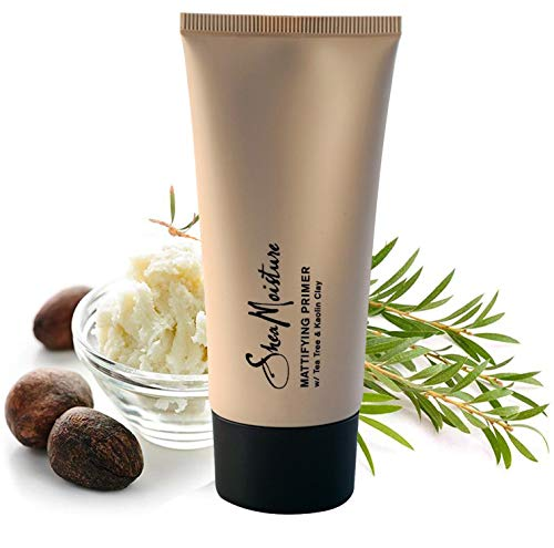 SheaMoisture Mattifying Primer - Matte Face Primer Hydrates and Balances Skin - Made with Organic Shea Butter, Tea Tree and Kaolin Clay (Good for oily, acne prone or sensitive skin) 1 Pack (1.7oz)