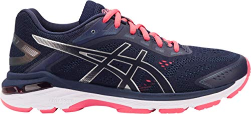 ASICS GT-2000 7 Women's Running Shoe, Peacoat/Silver, 11.5 AA US