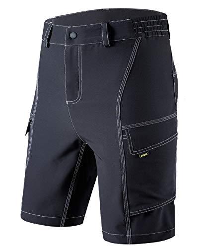 Men's Cycling Shorts Bike Bicycle MTB Mountain Bike Shorts Loose Fit Cycling Baggy Cycle Pants (Black, M)