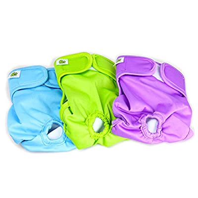 Pet Magasin Reusable Dog Diapers, Pack of 3