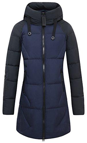 Donna Blu Antivento Icebear Inverno Giacca Piumino Addensare length Sottile Invernali Donne Mid Cappotto Abbigliamento wqxq4n5gSR