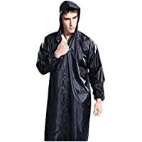 Adult Portable Lightweight Fashion Rain Coat For Men Workwear Rain Coat Easy Carry Wind Rain Jacket Poncho Coat ,Black one Size