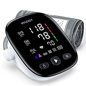HYLOGY Tensiómetro de Brazo, Monitor de Presión Arterial Digital Automatico con Gran Pantalla Led, Deteccion de… 41WqQr1omTL