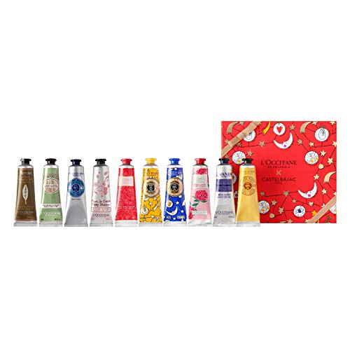 L'Occitane Holiday Hand Cream 10-Piece Set, Various Scents