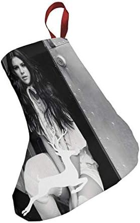 クリスマスの日の靴下 (ソックス3個)クリスマスデコレーションソックス 歌手Selena Gomez クリスマス、ハロウィン 家庭用、ショッピングモール用、お祝いの雰囲気を加える 人気を高める、販売、プロモーション、年次式