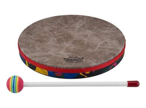 """REMO Drum, KIDS PERCUSSION, Hand Drum, 8"""" Diameter, 1.25"""" Depth, Fabric Rain Forest"""