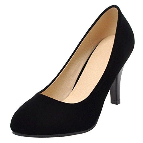 Coolcept Mujer Cerrado Bombas Zapatos 8CM Black