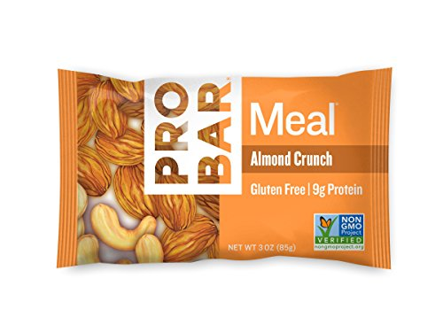 PROBAR - Meal Bar, Almond Crunch, 3 Oz, 12 Count - Plant-Based Whole Food Ingredients